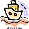 Vector Clipart picture  of a Cruise Ships and Ocean Liners