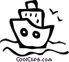 Cruise Ships and Ocean Liners Vector Clipart graphic