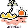 Vector Clipart illustration  of a Islands