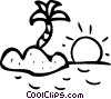 Vector Clip Art picture  of a Islands