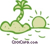 Islands Vector Clip Art graphic