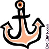 Vector Clipart picture  of an Anchors