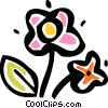 Vector Clipart graphic  of a Flowers