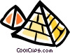 Vector Clip Art graphic  of a Pyramids