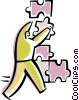 Vector Clip Art graphic  of a Pieces of a Puzzle