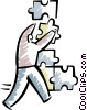 Vector Clipart graphic  of a Pieces of a Puzzle