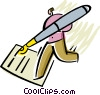 Vector Clipart illustration  of a Business Contracts
