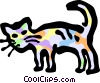 Vector Clip Art graphic  of a Cats