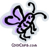 Vector Clip Art image  of a Flies