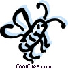 Vector Clipart image  of a Flies