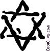 Vector Clip Art graphic  of a Star of David