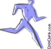 Vector Clipart graphic  of a Relay Runners
