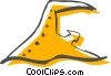 Vector Clipart illustration  of a Swimming