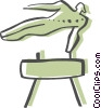 Vector Clip Art graphic  of a Pommel Horse