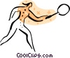 Badminton player Vector Clipart graphic