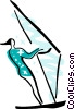 Vector Clipart graphic  of a Windsurfing