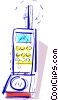 Vector Clipart picture  of a Cellular Wireless and Cordless