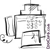 Vector Clipart image  of a Fax Machines