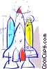 Space Shuttles and Capsules Vector Clip Art picture