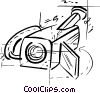 Vector Clip Art picture  of a security camera