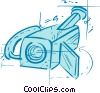 Vector Clip Art graphic  of a security camera
