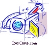 Vector Clipart image  of a security camera