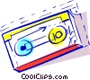 Vector Clip Art picture  of a back up disk
