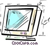 Monitors Vector Clipart illustration