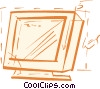 Vector Clipart image  of a Monitors