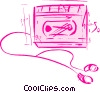 Portable Cassette Players Vector Clipart illustration
