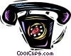 Vector Clip Art picture  of a Home Phones