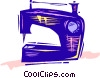 Vector Clipart graphic  of a Sewing Machines