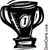 Vector Clip Art graphic  of a Trophies