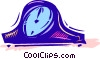 Vector Clipart image  of a Mantle Clocks