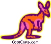 Vector Clip Art picture  of a Kangaroos