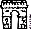 Vector Clipart graphic  of an Arc de Triomphe