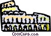 Vector Clipart graphic  of a Roman Coliseums