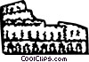 Vector Clip Art picture  of a Roman Coliseums