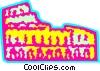 Roman Coliseums Vector Clip Art graphic