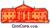 Vector Clip Art image  of a The White House