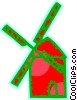 Vector Clipart graphic  of a Dutch Windmills