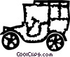 Vector Clipart graphic  of an Antique or Vintage Automobiles