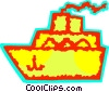 Cruise Ships and Ocean Liners Vector Clipart illustration