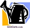 Vector Clip Art picture  of a Watering Cans