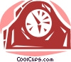 Mantle Clocks Vector Clipart illustration