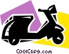 Scooters Vector Clipart picture