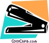 Vector Clipart image  of a Staplers