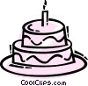 Birthday Cakes Vector Clipart illustration