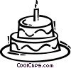 Vector Clip Art image  of a Birthday Cakes