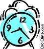 Alarm Clocks Vector Clipart illustration